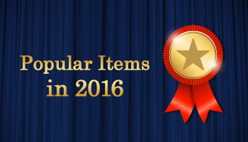 Top Selling Items in 2016!