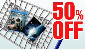 50% OFF! Movie Blu-ray & DVD