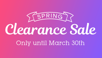 Up to 80% OFF! Spring Clearance Sale *The offer is over.