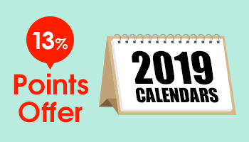 2019 Calendars 13% Points Offer! (Try-X) *Expired