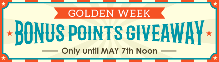 Golden Week Special: Earn Extra Points on All the Released CD, DVD & Blu-ray
