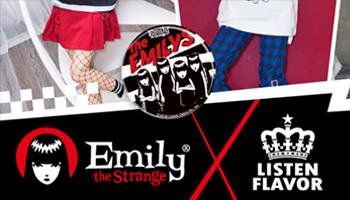 """EMILY the Strange"" & LISTEN FLAVOR Collaboration Items"
