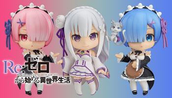 "Best Waifu: Nendoriod ""Re:ZERO"" Rem, Ram and Emilia pre-order!"