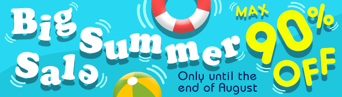 MAX 90% OFF! Summer Sale