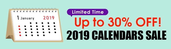 MAX 30% OFF! 2019 Calendar Sale