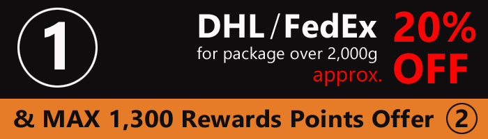 DHL / FedEx Shipping Charge Discount & Offer