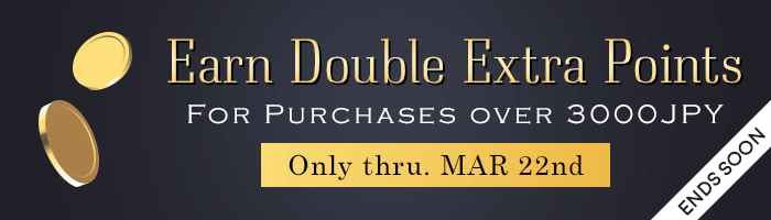 Spend 3,000 JPY or More & Earn Double Bonus Points!