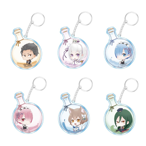 Re:Zero Flask Series Acryl Key Chain Collection Box