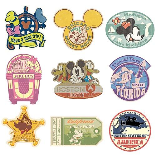 CDJapan : Disney Travel Sticker Mickey & Friends Nine set ...