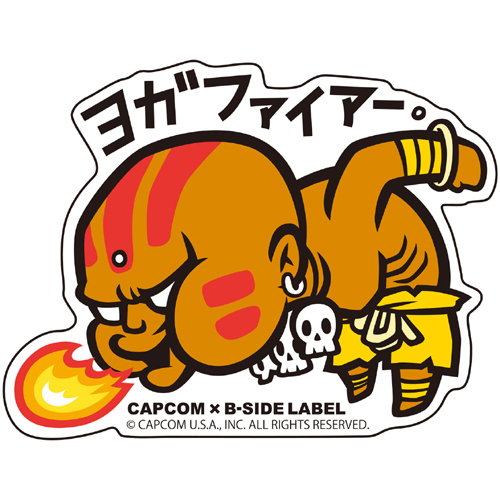 Capcom x b side label sticker ultra street fighter ii yoga fire