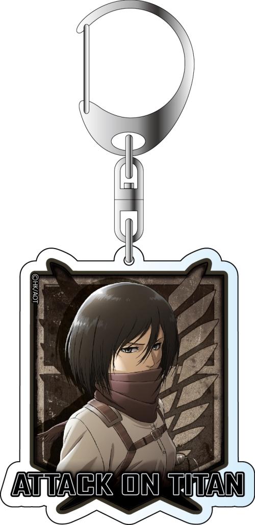 Shingeki no Kyojin Attack on Titan Mikasa anime acrylic AOT Keychain Key Ring