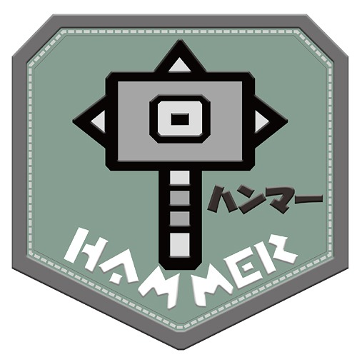 Monster Hunter MH PATCH Weapon Icon Hammer