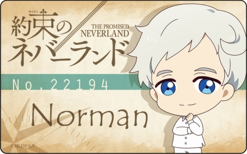 The Promised Neverland Plate Badge Norman Deformation Ver
