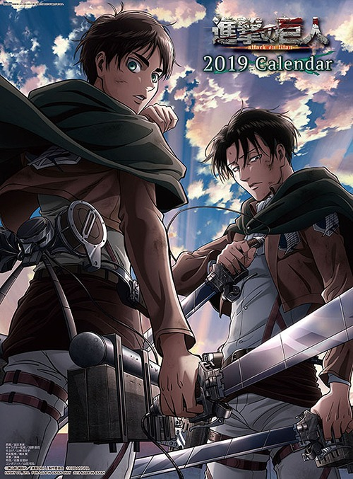 October Calendar 2019 : Cdjapan attack on titan shingeki no kyojin calendar