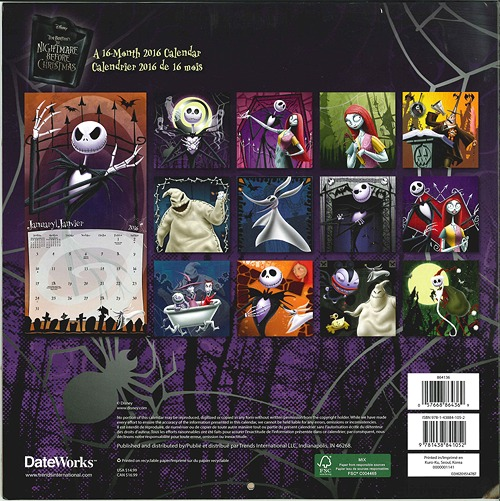 CDJapan : The Nightmare Before Christmas [Calendar 2016 (Import ...