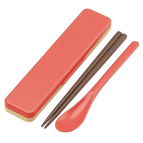 cdjapan earth color chopsticks spoon set salmon pink collectible