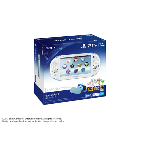 Second hand PlayStation Vita Value Pack [Light Blue / White] [PCH-2000]