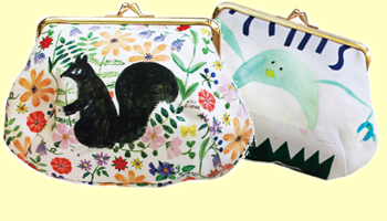 Designer makeup pouches are also available