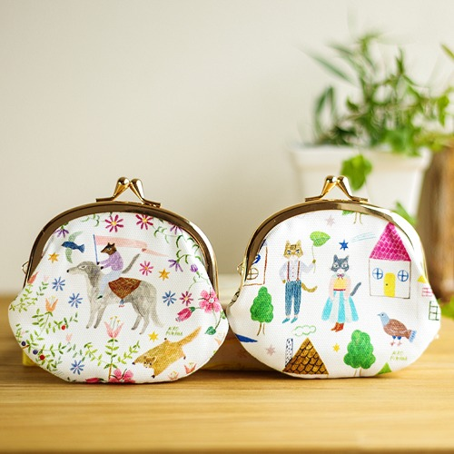 Designer coin purses are also available