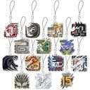 Cdjapan Monster Hunter 15th Main Monster Icon Stained Mascot Collection Box Collectible
